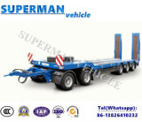De cinq essieux de Lowdeck pleine de chariot de barre d'attelage de remorque de Lowbed remorque de camion semi