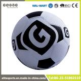 Esfera padrão lisa amarela e preta do futebol