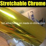 Зеркала Strechable золота пленка винила крома высокого лоснистая