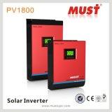 Inverseur solaire pur à haute fréquence de contrôleur de charge de l'onde sinusoïdale PV1800 MPPT