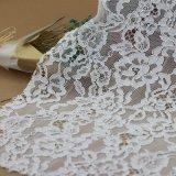 Tissus de cordon de coton de lacet de maille de voile pour des accessoires de vêtements