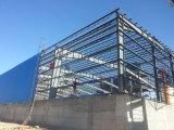 Magazzino portale fabbricato/gruppo di lavoro della struttura d'acciaio del blocco per grafici