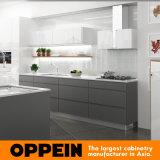 Кухонный шкаф кухни лака лоска способа Oppein цветастый высокий (OP16-L11)