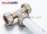 Pex 알루미늄 Pex 관 고급장교 압축 티를 위한 금관 악기 압축 이음쇠