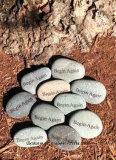 정원 Landscaping를 위한 혼합 Color Engraved Stone