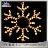 Luz branca da decoração ao ar livre do Natal do floco de neve do diodo emissor de luz do feriado