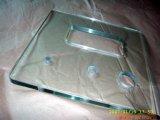 Vidro temperado chanfrado desobstruído liso personalizado de 5mm-19mm com projeto especial da chanfradura