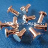 12V/24V AC/DCのリレーおよび他のスイッチに使用する円形のヘッド三金属の接触のリベット