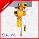 große Geschwindigkeit 2t 3 Phasen-elektrische Kettenhebevorrichtung mit Laufkatze 200-460V
