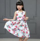 Vestido das meninas de flor da alta qualidade com desgaste das crianças do Bowknot