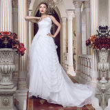 Strapless Lace Beading Real Photos Wedding Dresses (TM-MS012)