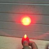 De fabriek paste Licht van de Fiets van de Rode Witte LEIDENE het Mini Praktische Waarschuwing van de Veiligheid aan