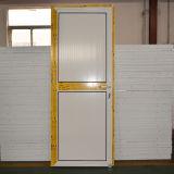 Porta de alumínio revestida do Casement do pó branco da cor com tamanho grande Kz201 do painel de alumínio