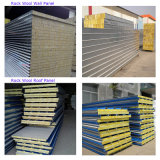 Изолированная пожаробезопасная стальная панель сандвича шерстей утеса для стены/крыши с хорошим ценой