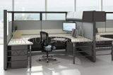 隔壁(SZ-WS515)が付いている最新の単一のオフィスデザインスペース節約のキュービクル