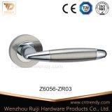 Quare 근엽 (Z6075-ZR09)에 Doulbe 색깔을%s 가진 간단한 아연 합금 문 손잡이
