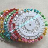 De decoratieve 55mm Kleurrijke Rechte Spelden van de Bloem van de Parel Hoofd