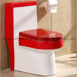 Toilet Color Bathroom Toilet (A-054) Pieceで陶磁器