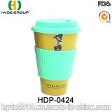 Verschiedene Farben-Bambusfaser-Kaffeetasse-Arbeitsweg-Becher (HDP-0424)