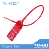 Serial Number와 Logo (YL-S281T)를 가진 플라스틱 Security Seal