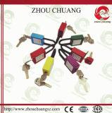 Cadeado de nylon da segurança de Xenoy do multi fechamento durável colorido levemente