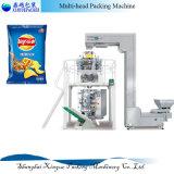 Le granule automatique de Multi-Tête pesant la machine de conditionnement pour le plantain de casse-croûte ébrèche la machine à emballer