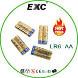 Batter батареи AA Lr6 алкалический сушит 4 пакета Lr6