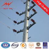 Linha aérea elétrica Pólo de aço material