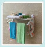 浴室の棚ラックのための二重タオル棒ホールダー