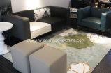 Sofá moderno italiano del hogar del sofá de la flor de la tela del estilo (D-73-A+B)