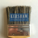 Cepillo de pintura (pincel, cepillo plano 100% puro de cerdas grises con mango de plástico)