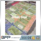 Lastre verde chiaro all'ingrosso del Onyx della pietra del Onyx per le mattonelle di pavimento
