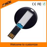 Minikreisplastik-USB-Flash-Speicher mit Ihrem Firmenzeichen