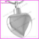 Il memoriale d'acciaio dello spazio in bianco lucido del cuore incenerisce la collana Pendant dell'urna del Keepsake per la famiglia (IJD8408)