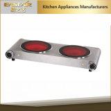 GS A13二重バーナーのステンレス鋼の高品質のガラス陶磁器のストーブの赤外線炊事道具