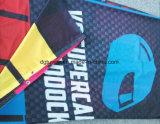 La bandiera perforata esterna della maglia della flessione della tessile vede attraverso il tessuto fare pubblicità alla stampa