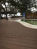 Decking impermeável ao ar livre vermelho do composto 137 plásticos de bambu contínuos