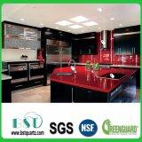Roter Schein-Küche-Quarz-SteinCountertop