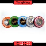 730PCS/кристаллический набор микросхем покера типа экрана с в алюминиевым набором микросхем казина случая для от 5 до 10 играя в азартные игры игр Ym-Sjsy001