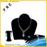Conjunto nupcial cristalino romántico elegante de la joyería de la hoja de oro blanco
