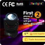 Luz movente da lavagem da cabeça RGBW do diodo emissor de luz de Yuelight 4PCS 25W 4in1