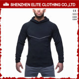 Bodybuilding impermeável Hoodie do Zipper do espaço em branco magro da ginástica do ajuste para os homens (ELTHSJ-1070)