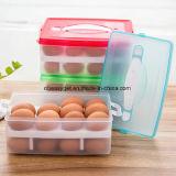 El envase de 2 de las gradas huevos del plástico con almacenaje de congelador de refrigerador de Refriderator de la maneta Eggs el sostenedor Esg10189