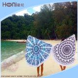 安い卸し売り高品質の円形のビーチタオル