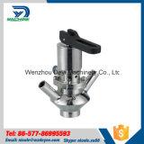 Válvula sanitária da torneira de amostragem de Ss316L com tipo redondo