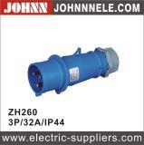 Soquete montado de superfície de IP44 3p 32A para industrial
