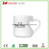 Tazza di ceramica bianca personalizzata con la maniglia Heart-Shaped per il regalo promozionale