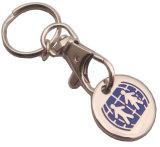 Sostenedor simbólico Keychain de la moneda de la carretilla del metal de encargo del carro de compras