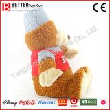Juguete suave del oso de la felpa del animal relleno de los juguetes de la promoción de los deportes