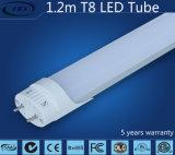 alta LED T8 lampada luminosa del tubo di 1200mm 22W con l'UL, cUL, certificazione di Dlc (reattanza compatibile)